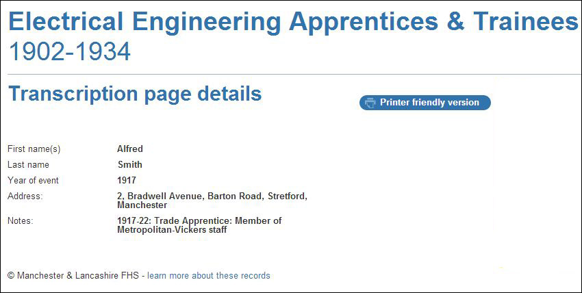 Electrical Engineering Apprentices & Trainees sample record